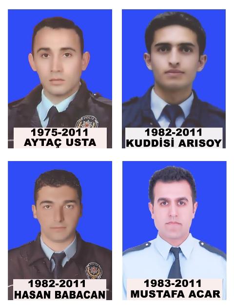 4 polis için cenaze töreni düzenlendi