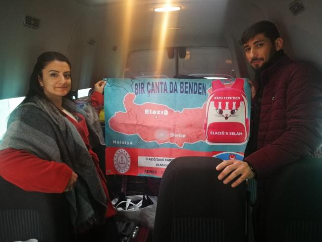 23 Nisan İlkokulu'ndan 'Bir Çanta da Benden' Kampanyası