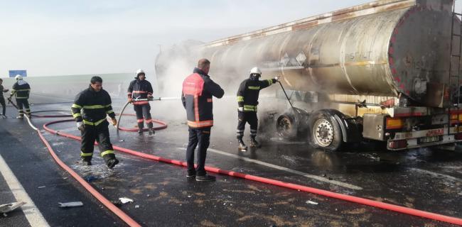 İpek yolunda trafik kazası