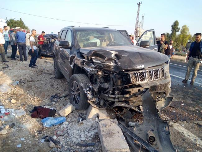 Nusaybin Yolunda Feci kaza 1 ölü 7 yaralı
