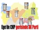 Ege'de CHP gerisinde AK Parti