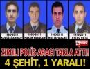 Kızıltepe'de kaza: 4 polis şehit