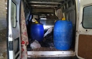 2,5 ton Bomba Yüklü Minibüs Ele Geçirildi