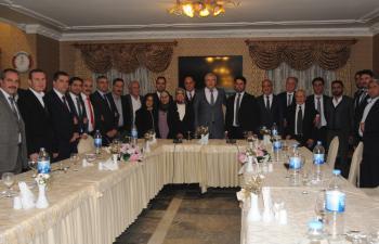 Adaylar, tanıtım toplantısında teşkilatla buluştu