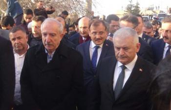 Başbakan Yıldırım, Miroğlu'nun cenazesi için Mardin'de