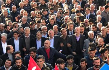 Belde sakinleri Şahin'e 'Gönül Yürüyüşü'yle destek verdi