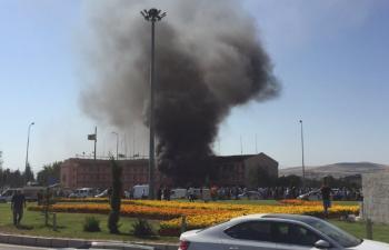 Elazığ Emniyet Müdürlüğü yakınlarında büyük bir patlama