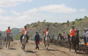 Mardin'de rahvan atları yarışı yapıldı