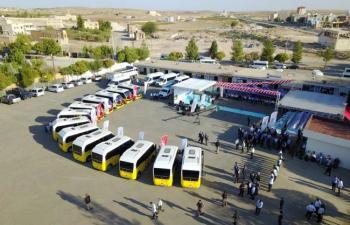 Midyat'ta Toplu Taşıma  Araçları Yenilendi