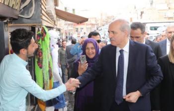 Numan Kurtulmuş Mardin'de