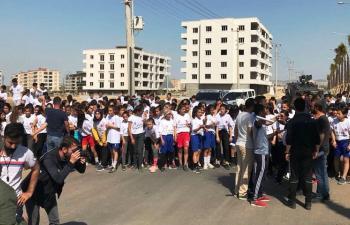 Nusaybin'de 10 Nisan Polis koşusuna ilgi büyük oldu