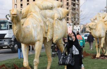 Temsili Deve Kervanı Kızıltepe'ye güzellik kattı
