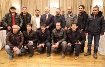 Vali Yaman Gazeteci ve Kaymakamlarla biraraya geldi