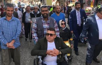 Engelli arkadaşları için yürüdüler