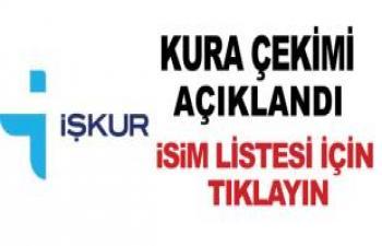 İşkur'da çalışacak işçilerin isimleri