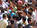 Mardin Cezaevi önünde polise saldırı