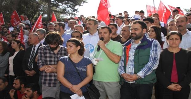 Ankara'daki katliamı Mardin'de protesto edildi