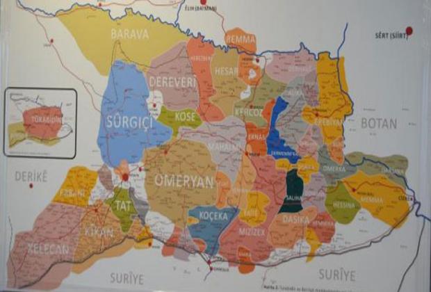 Aşiretlerle ilgili ilk harita