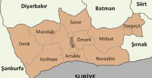 Mardin İlçeleri 2021 - Mardin'in kaç tane ilçesi var?