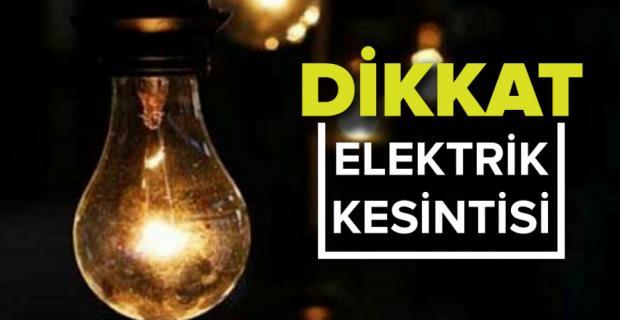 DİKKAT: 10 İlçede Elektrik Kesintisi