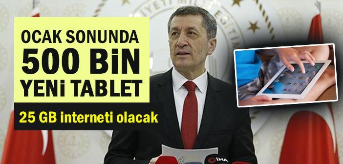 Bakan Selçuk: Ocak sonunda 500 bin tablet yerine ulaşacak