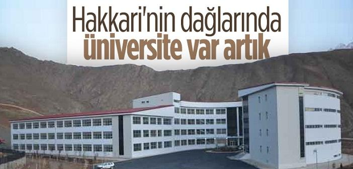 Hakkari Üniversitesi'nin yapımı tamamlandı