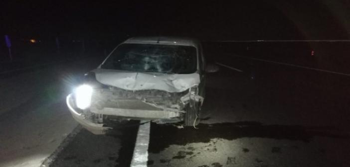 Kontrolden çıkan araç bariyerlere çarptı: 1 yaralı