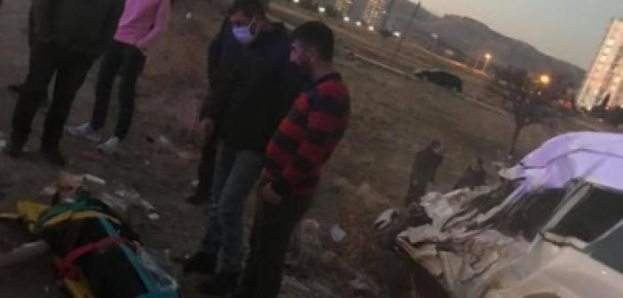 Mardin - Diyarbakır yolunda feci kaza