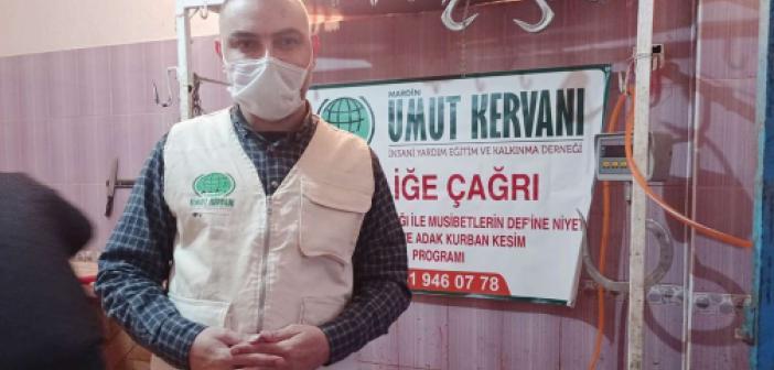 Mardin Umut Kervanı pandemiye karşı kurban kesti