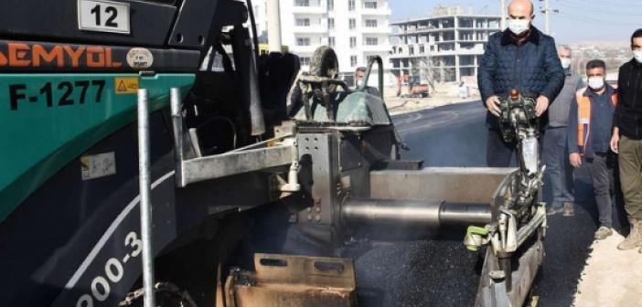 Nusaybin Baraj Yolu Caddesi'nde asfaltlama çalışmaları başladı