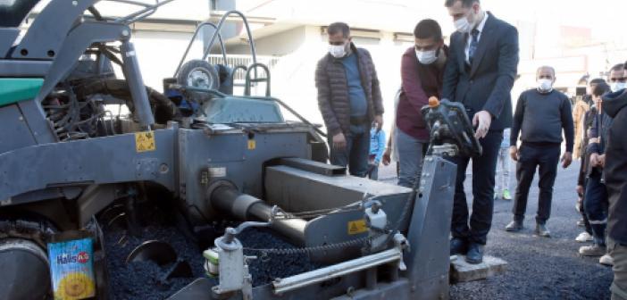 Nusaybin Fırat Mahallesinde asfalt çalışmaları başladı