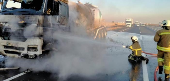 Seyir halindeki tanker'de yangın çıktı