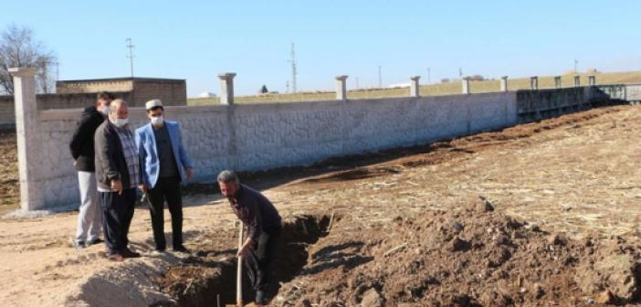 Kırsal mahallede çok amaçlı caminin temeli atıldı