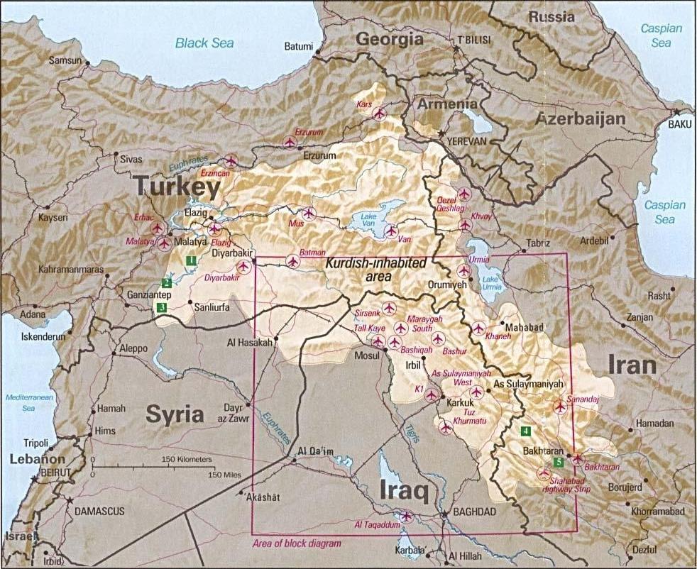 Kürtlerin yaşadığı yerler
