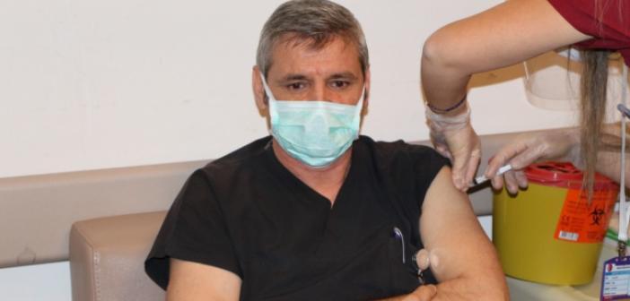 Mardin'de Koronavirüsü Aşısı Vurulmaya Başlandı