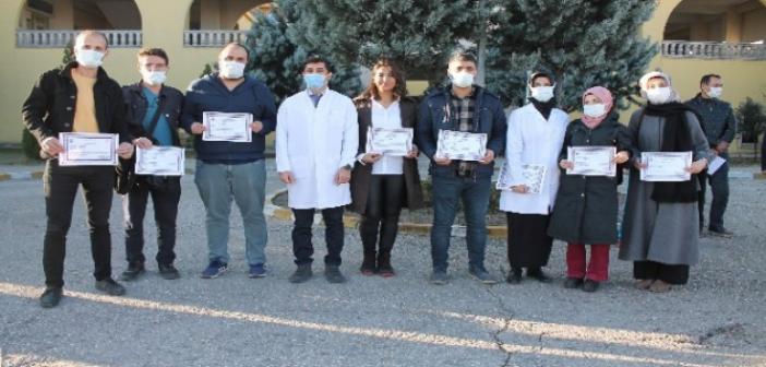 Midyat'ta 174 Sağlık Çalışanına Başarı Belgesi