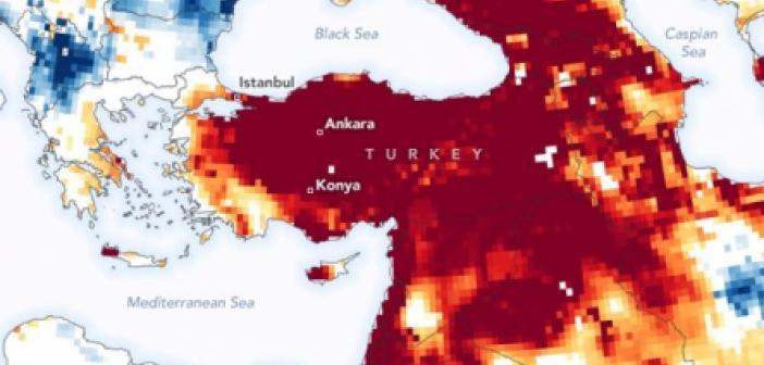 NASA'dan korkutan Türkiye paylaşımı! Kuraklık haritası