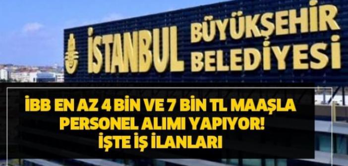 2021 Nisan Ayı İstanbul Büyükşehir Belediyesi personel alımı! İşçi başvuru şartları! Bütün iş ilanları için tıklayınız!