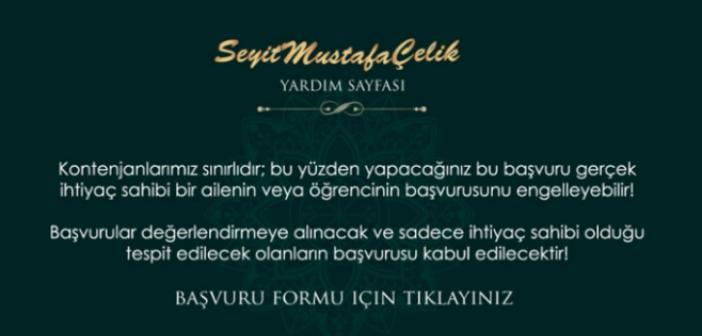 Seyit Mustafa Çelik ailesi, ramazan yardımı başvurusu internet üzerinden alınacak