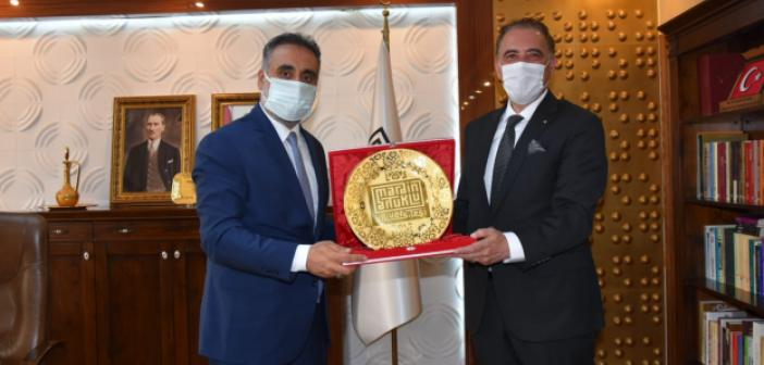 Büyükelçi Adjabi, Rektör Özcoşar'ı ziyaret etti