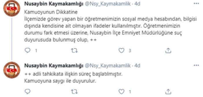 Kaymakamlıktan, Kürtçe'ye tahammülü olmayan Öğretmenin paylaşımı ile ilgili açıklama