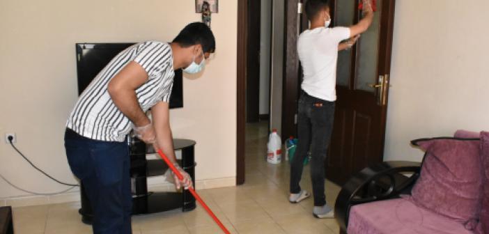 İhtiyaç sahiplerinin evlerine bayram temizliği