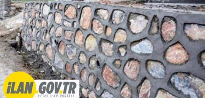 Muhtelif mahalle yollarında taş duvar yaptırılacak