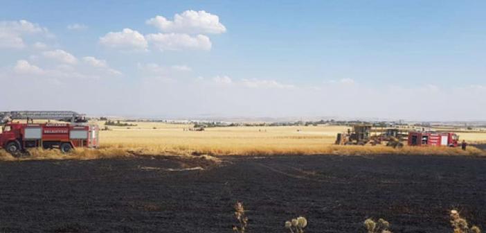 Adıyaman'da binlerce dönüm anız yangınına müdahale edildi