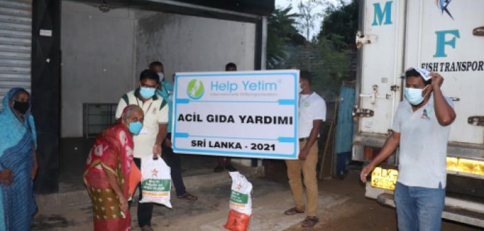 Avrupalı Türkler'den Sri Lanka Halkına Yardım