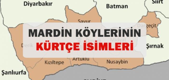 Derik Köylerinin Kürtçe ve Türkçe İsimleri
