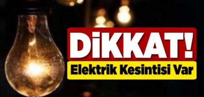 DİKKAT: 43 Mahallede Elektrikler Kesilecek!