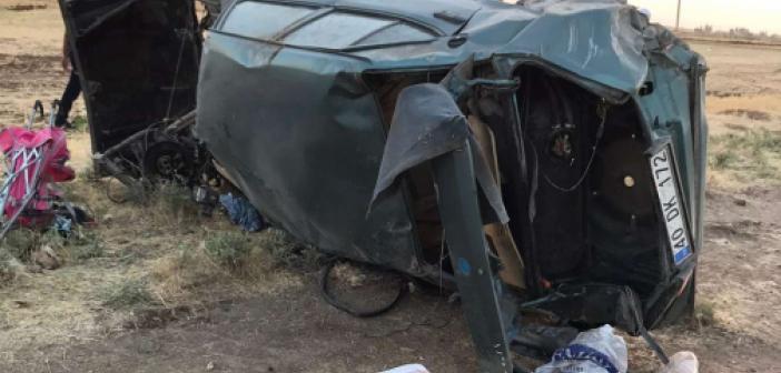 Mardin'de araç şarampole yuvarlandı: 4 yaralı