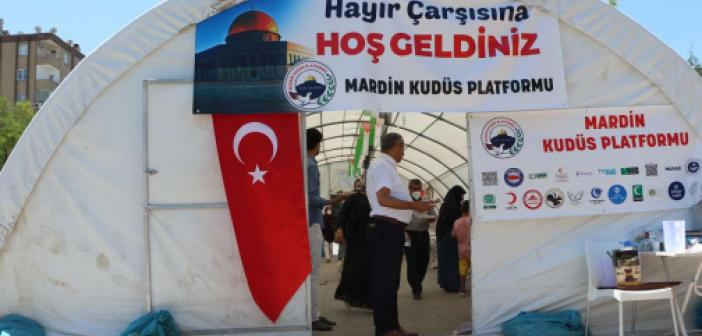 """Mardin'de Filistin yararına """"Hayır Çarşısı"""" açıldı"""