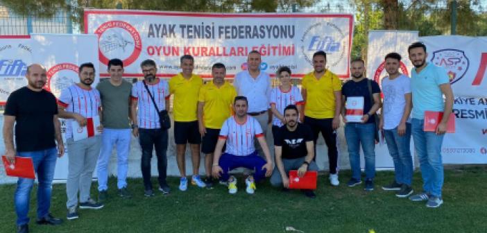 Türkiye Ayak Tenisi Federasyonu eğitim semineri Diyarbakır'da düzenlendi